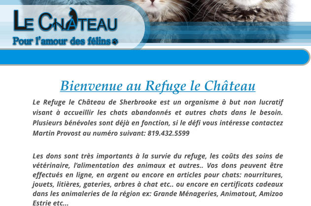 refuge chat eau